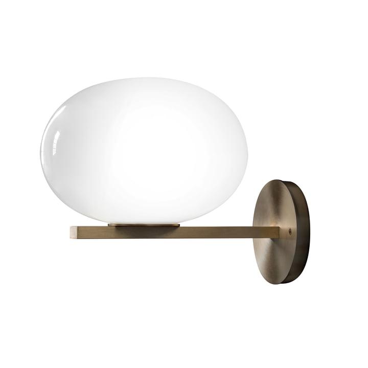 Alba væglampe 176 af Oluce i opalglas / messing