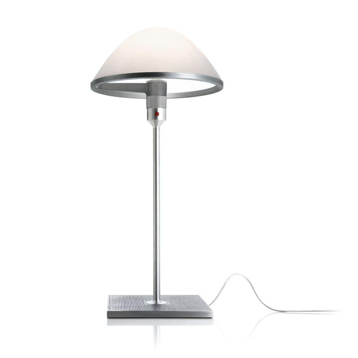 Miranda D60 bordlampe fra Luceplan i aluminium / opalglas