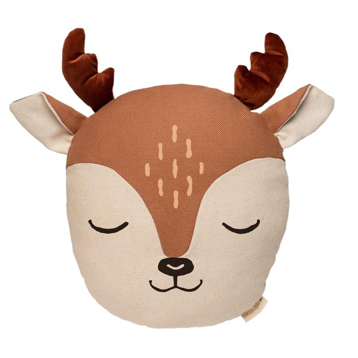 Deer pude af Nobodinoz i sienna brown