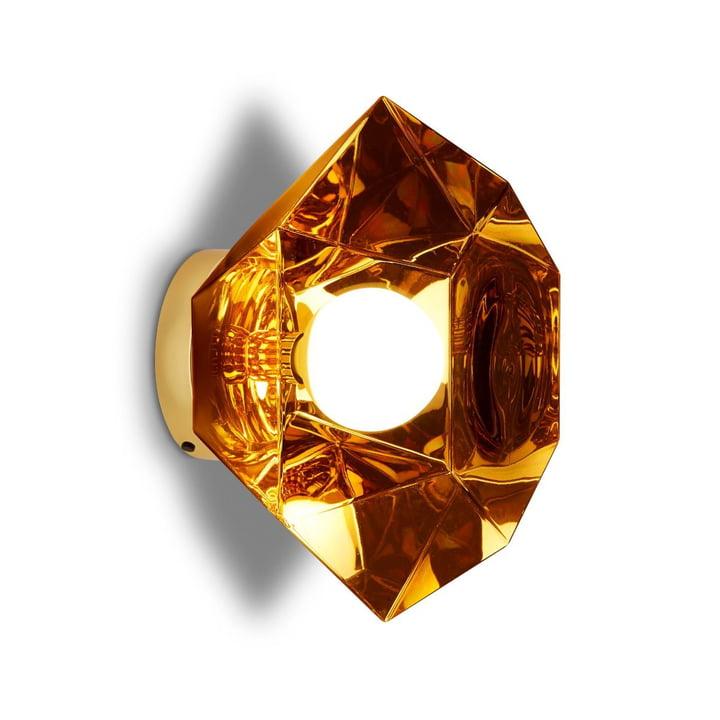 Cut væglampe, guld af Tom Dixon