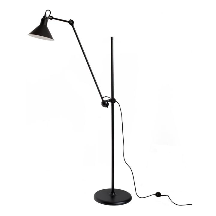 Lampe Gras nr. 215 gulvlampe fra DCW i sort / sort