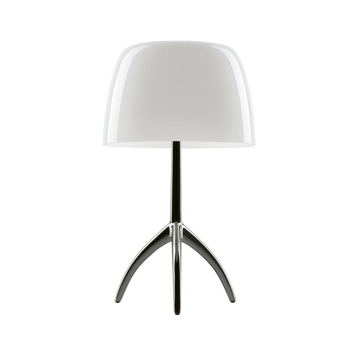 Foscarini - Lumiere 05 Grande bordlampe med lysdæmper, aluminium / hvid