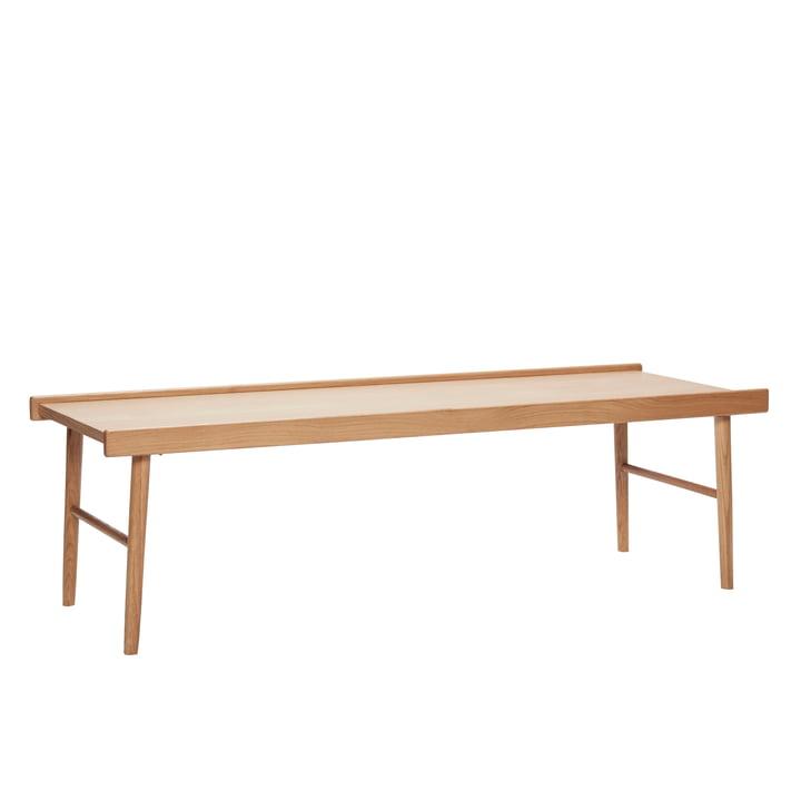 Sofabord med kanter, egetræ, natur af Hübsch Interior
