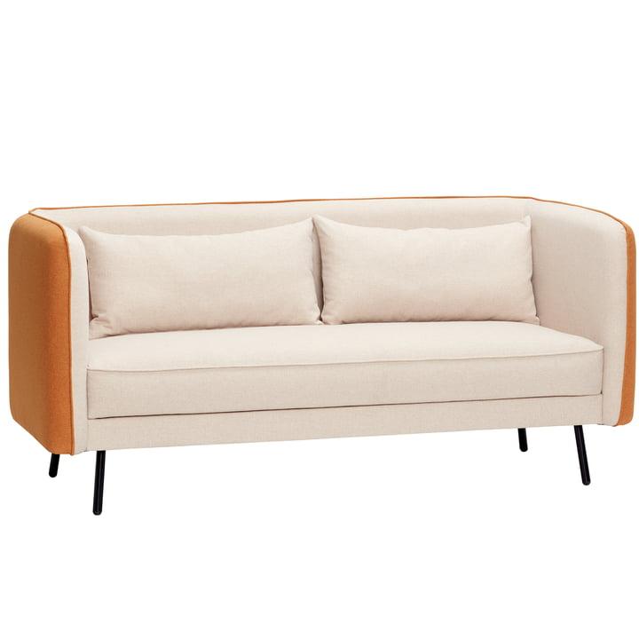 2-personers sofa, beige / orange fra Hübsch Interior