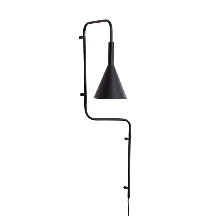 Metal væglampe, sort, høj af Hübsch Interior