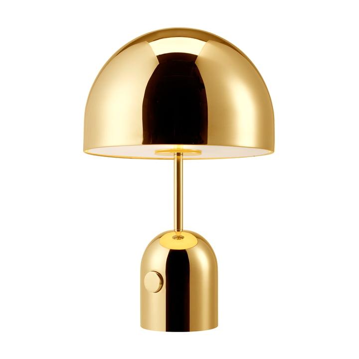 Bell bordlampe fra Tom Dixon lavet af messingbelagt stål