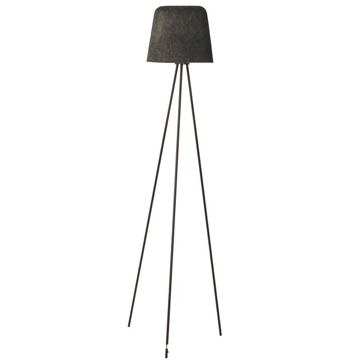 Felt Shade gulvlampe af Tom Dixon i grå