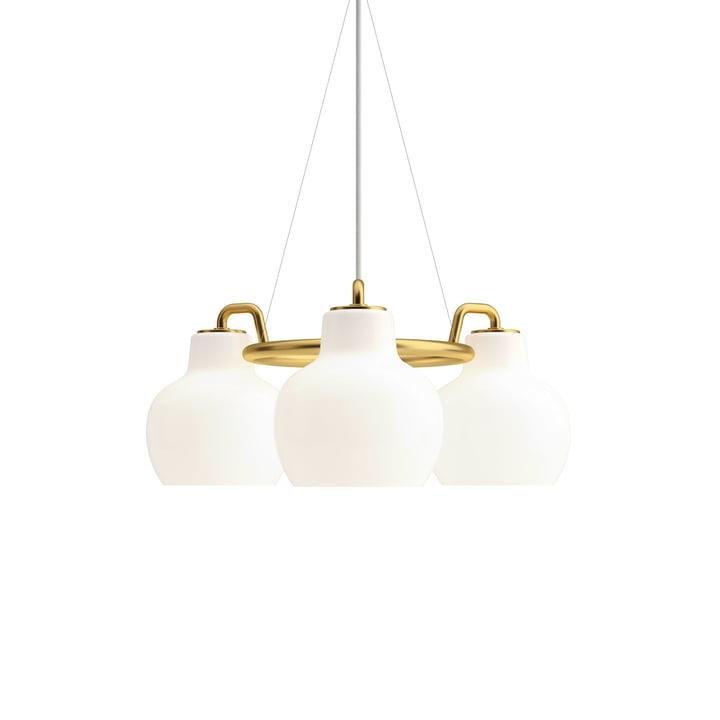 VL Ring Crown 3 lysekrone af Louis Poulsen i messing / hvid