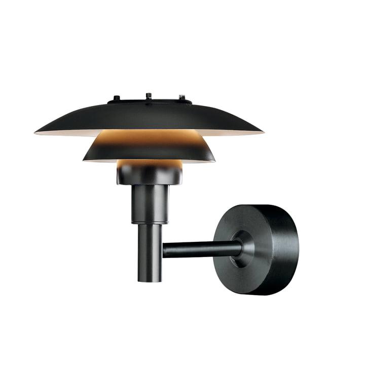 PH 3-2½ væglampe (udendørs) fra Louis Poulsen i sort