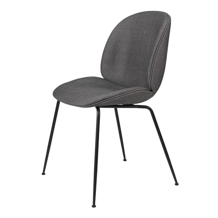 Beetle Dining Chair (polstret), sort mat / Remix, Kvadrat (152) af Gubi