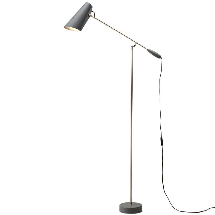 Birdy gulvlampe fra Northern i grå / metallic
