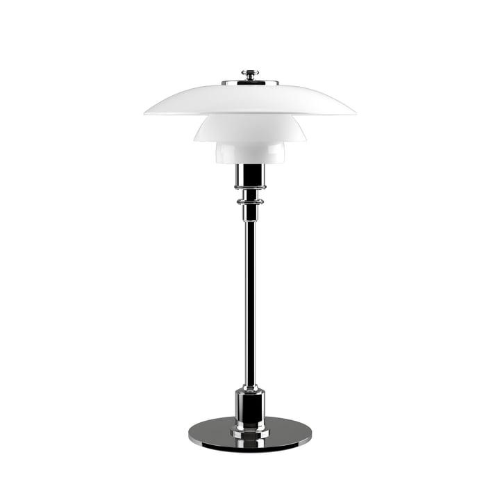 PH 2/1 bordlampe fra Louis Poulsen i højglans krom