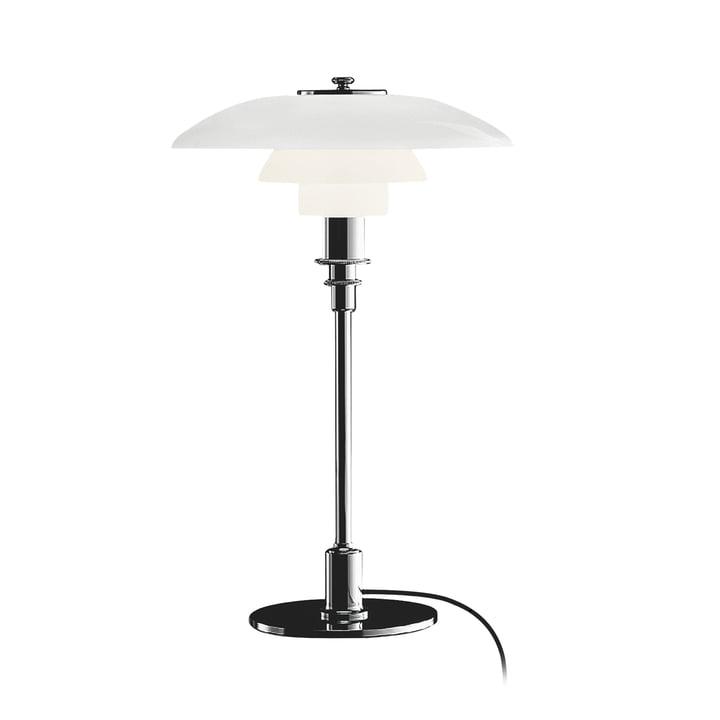 PH 3/2 bordlampe fra Louis Poulsen i højglans krom