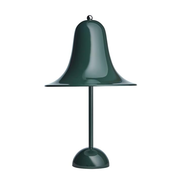 Pantop bordlampe fra Verpan i mørkegrøn