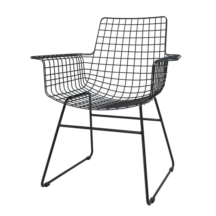 Wire Arm Chair, sort fra HKliving