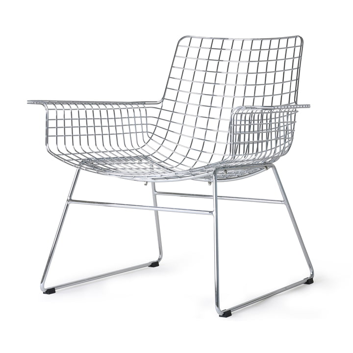 Wire Lounge Chair, krom fra HKliving