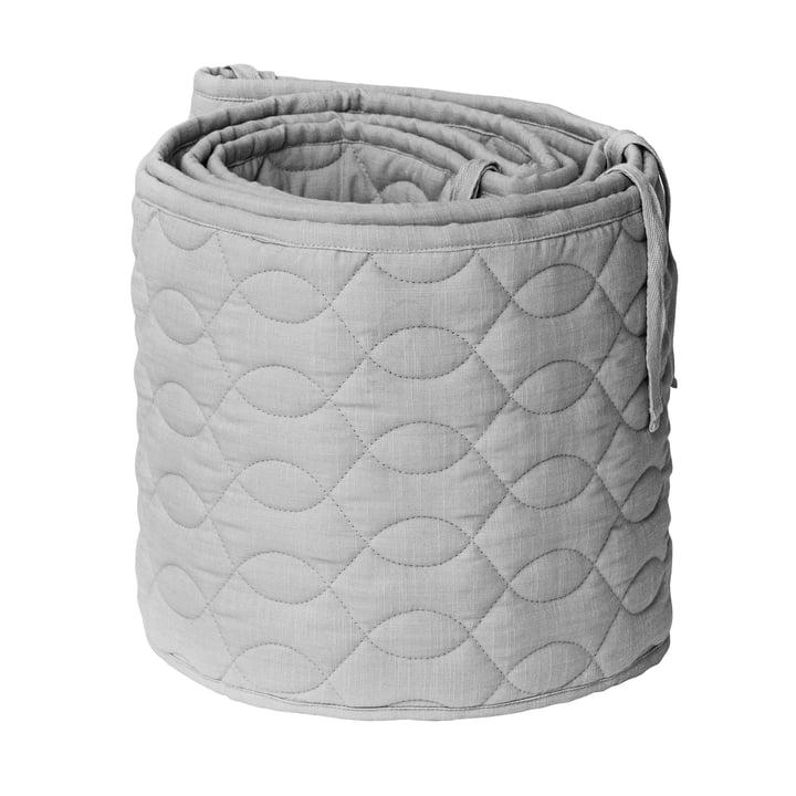 Babybedkofangeren fra Sebra, quiltet / elefantgrå