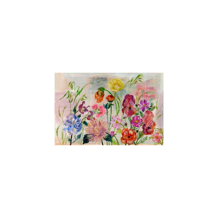 The Flowers Garden vægmaleri af IXXI, 120 x 80 cm