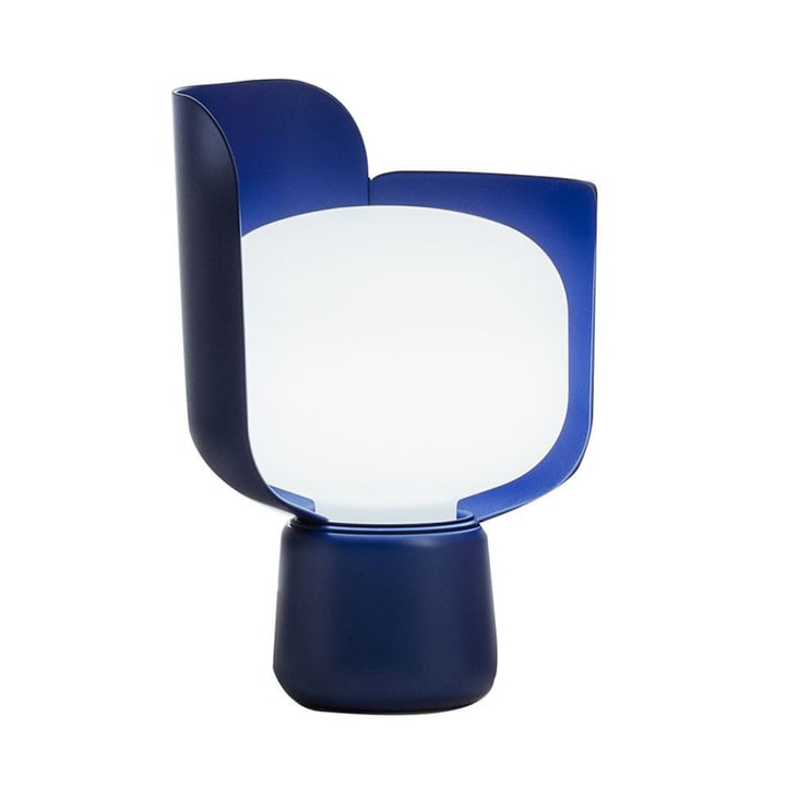 Blom bordlampen fra FontanaArte i blå