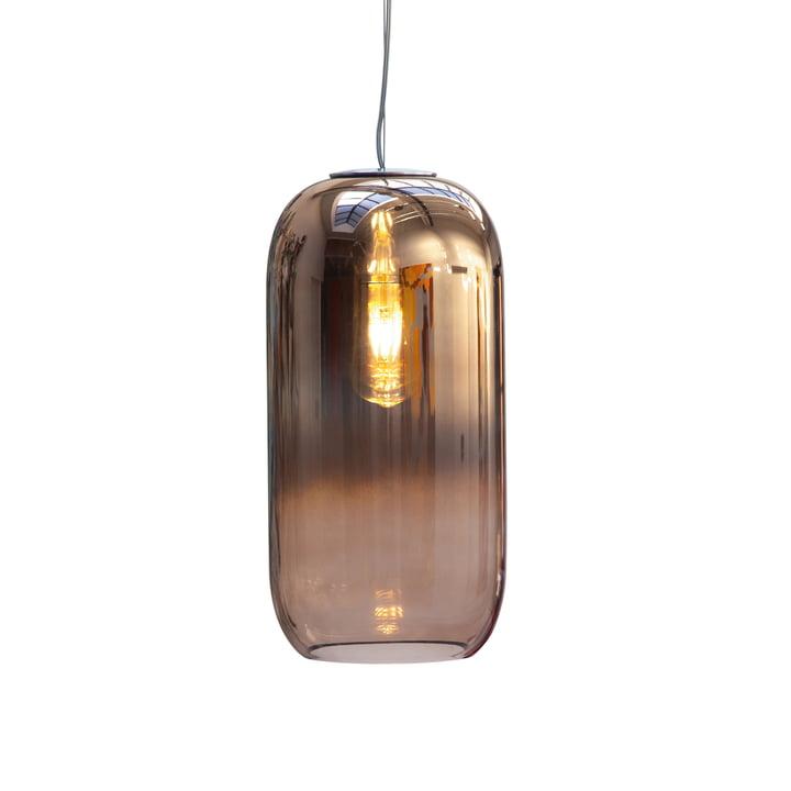 Gople vedhængslampe Ø 21 x H 42 cm ved Artemide i kobber