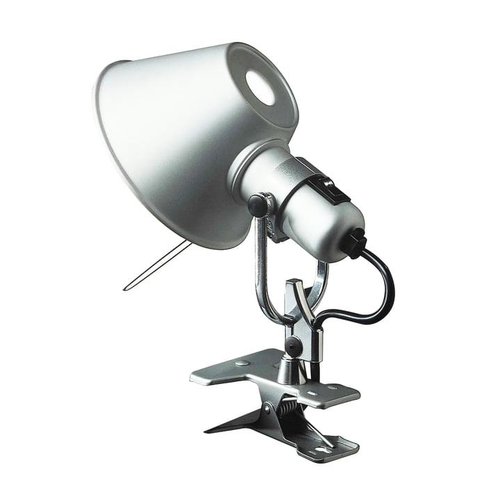 Artemide Tolomeo – Pinza klemmelampe, sølvfarvet aluminium
