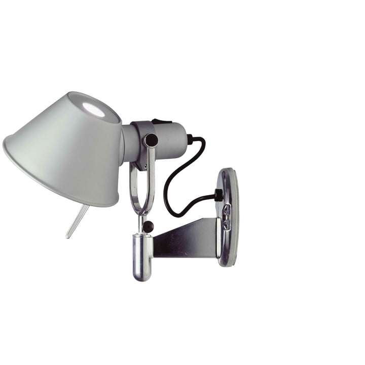 Artemide - Tolomeo Faretto væglampe i aluminiumsølv