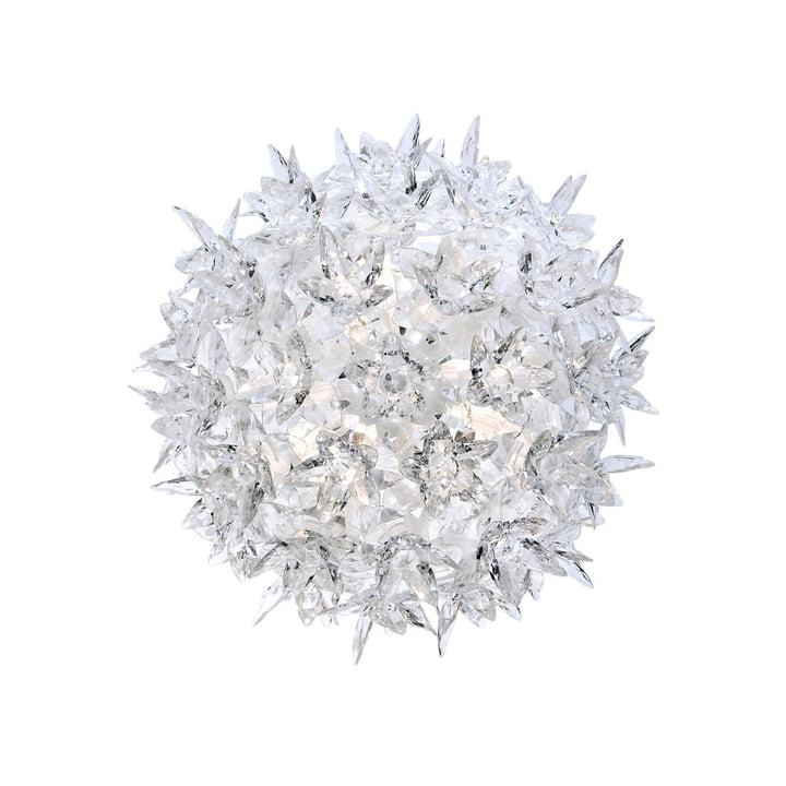 Bloom CW2 væglampe lille fra Kartell i krystalklar