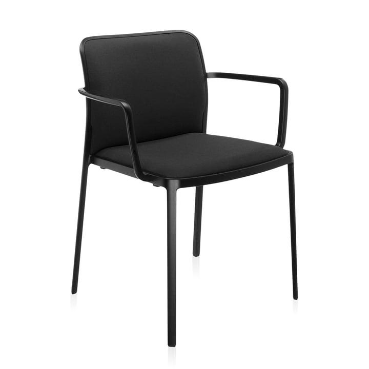 Audrey Soft lænestol fra Kartell i sort / sort