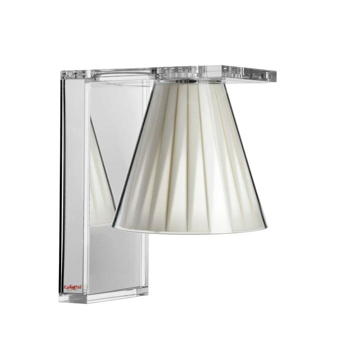 Light-Air væglampe, krystalklar / beige af Kartell