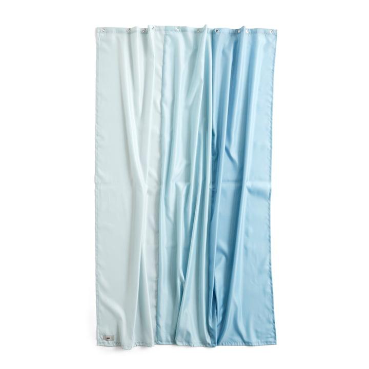Aquarelle bruseforhæng, 200 x 180 cm, lodret isblå af Hay