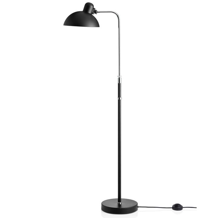 6580-F Luxus gulvlampe, mat sort fra KAISER idell