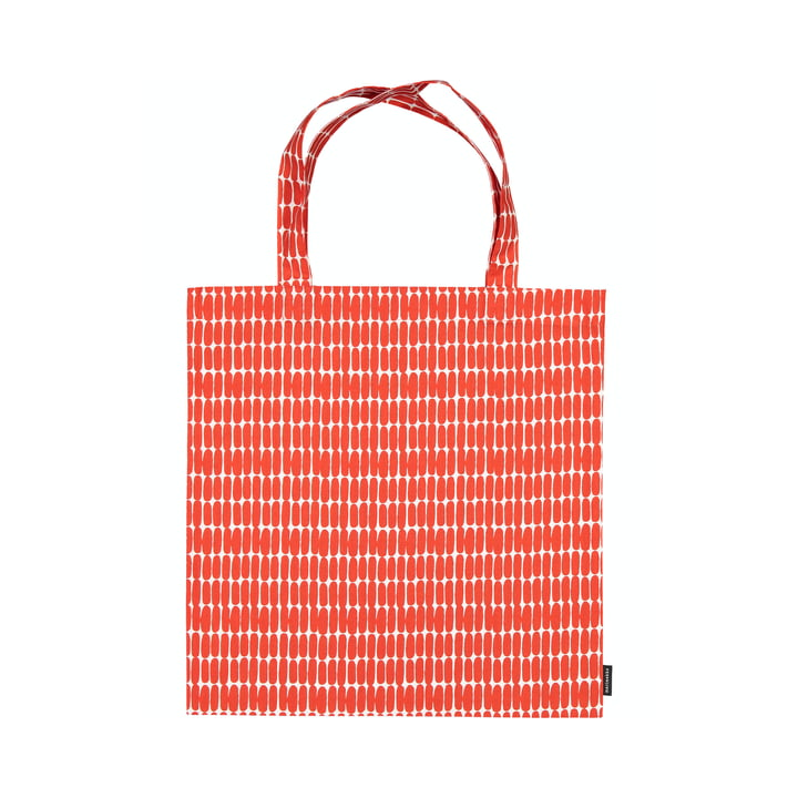 Alku indkøbspose fra Marimekko, hvid / rød
