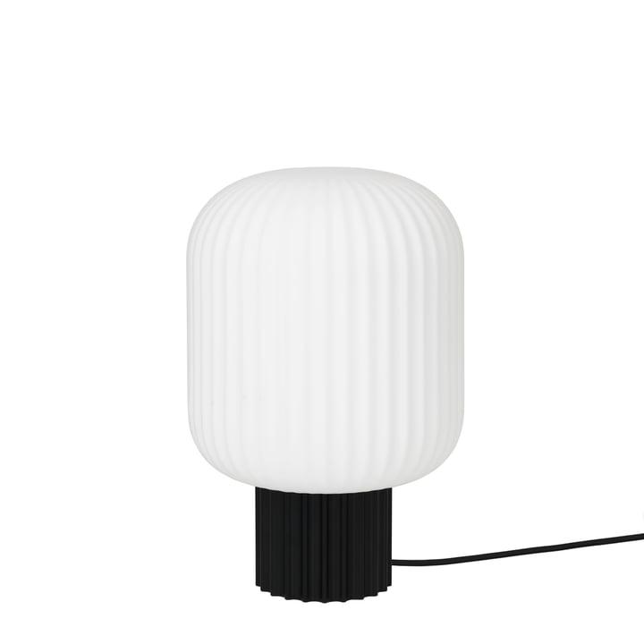 Lolly bordlampe fra Broste Copenhagen i sort / hvid, Ø 20 x H 30 cm