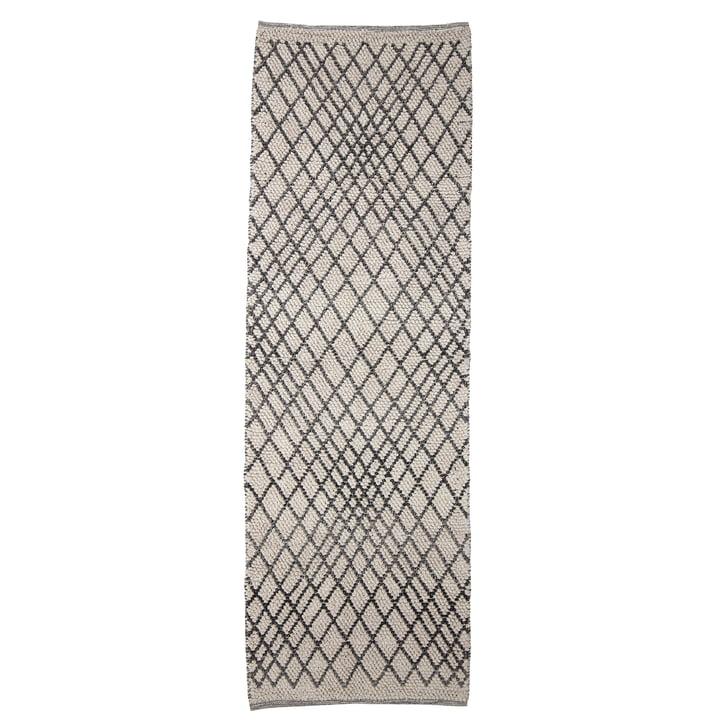 Kaya tæppet fra Bloomingville, 250 x 80 cm, grå
