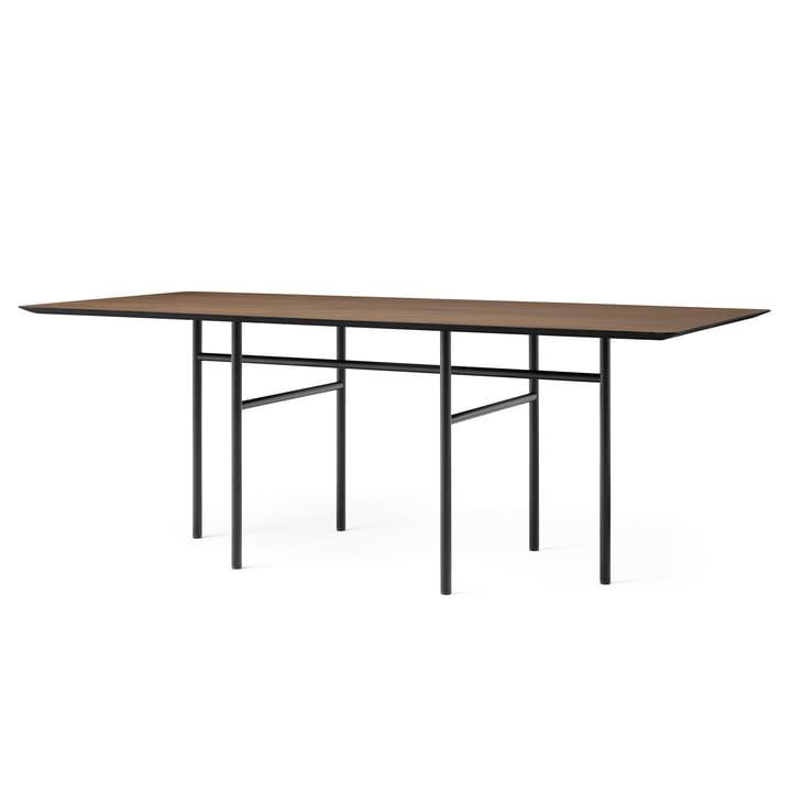 Snaregade bord, rektangulært, 90 x 200 cm, sort / bejdset eg af Menu