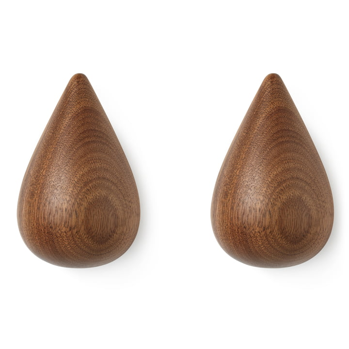 Dropit af Normann Copenhagen, stor, valnød (sæt med 2)