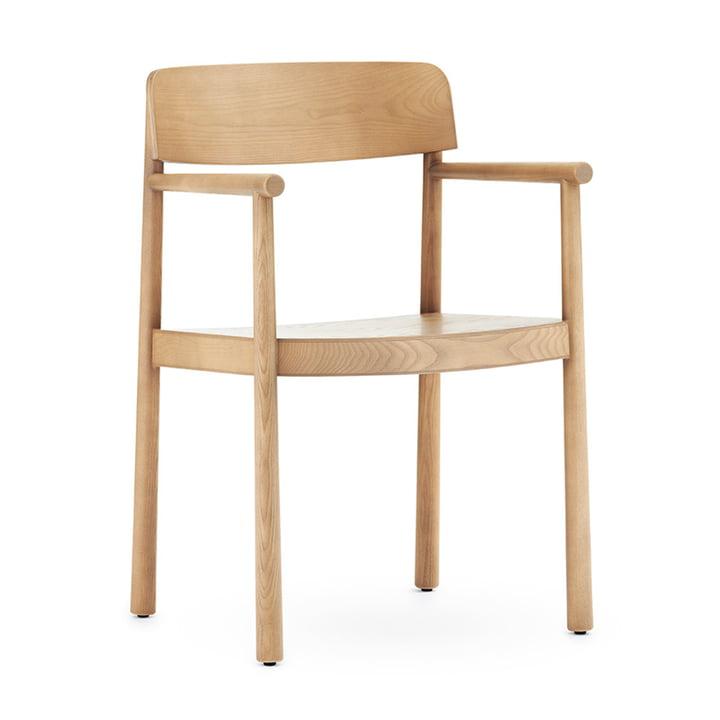 Timb lænestol fra Normann Copenhagen i naturlig