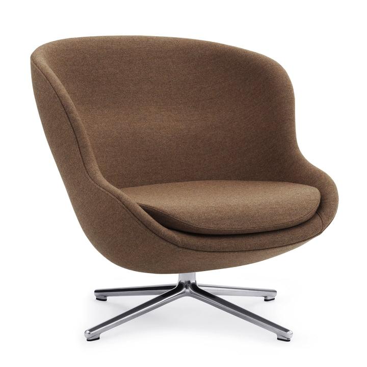 Hyg lænestol med drejelig ramme af Normann Copenhagen, aluminium / Synergy