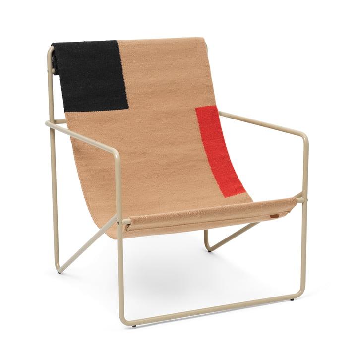Desert Lounge Chair fra ferm Living i cashmere / blok