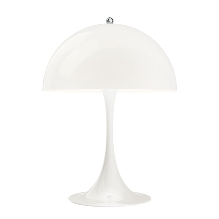 Panthella bordlampe 320, hvid af Louis Poulsen