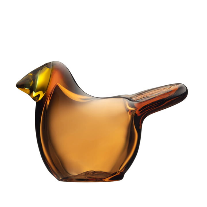 The Birds by Toikka Flycatcher fra Iittala i kobber / citron