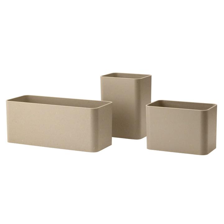 Opbevaringskasser, beige (sæt med 3) af String