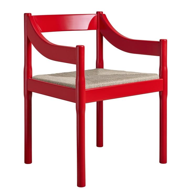 Carimate lænestol af Fritz Hansen i rødt