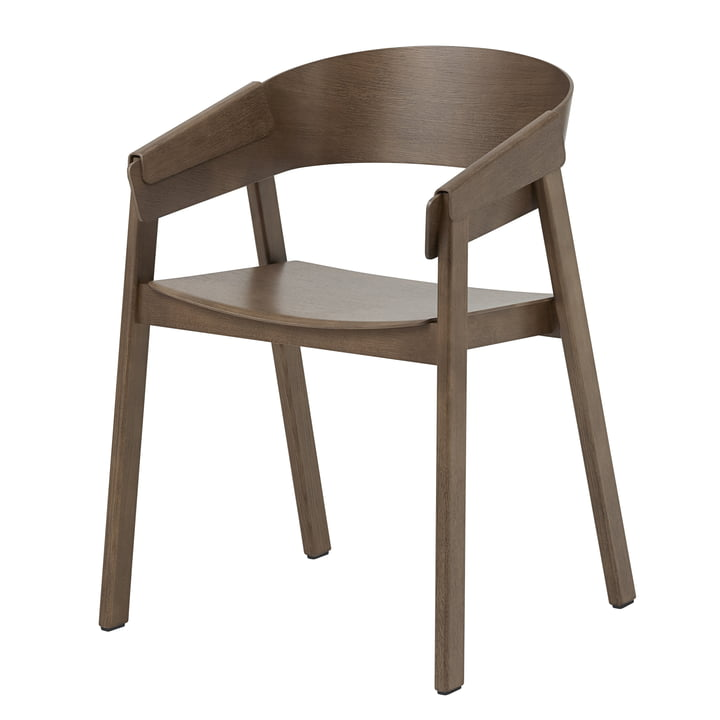 Cover Armchair fra Muuto i mørkebrun