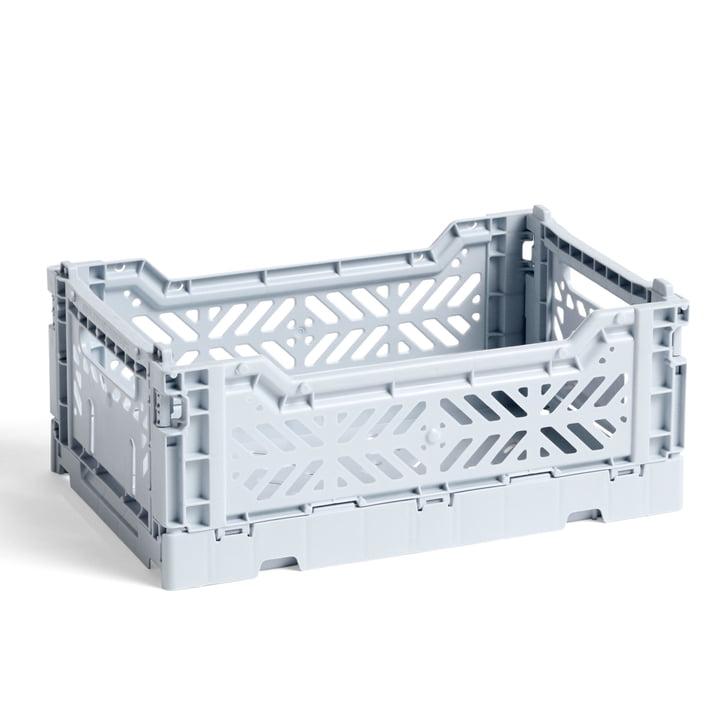 Colour Crate Basket S fra Hay, 26,5 x 17 cm, isblå