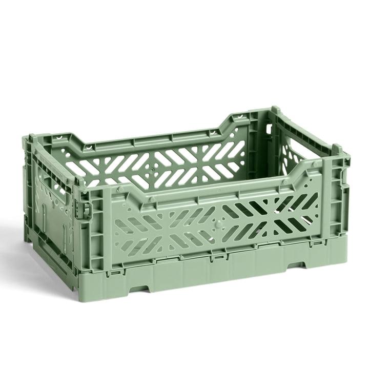 Colour Crate Basket S fra Hay, 26,5 x 17 cm, støvet grøn