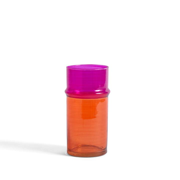 Den marokkanske vase S af Hay, orange / pink