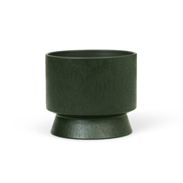 Den genbrugte cachepot af Rosendahl, Ø 12 cm, mørkegrøn