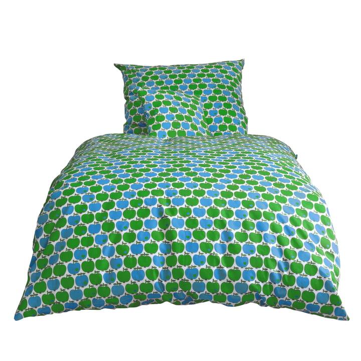 byGraziela - æble sengelinned, blå / grøn