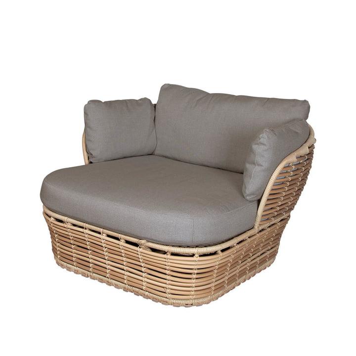 Basket loungestol Outdoor af Cane-line, naturlig / taupe